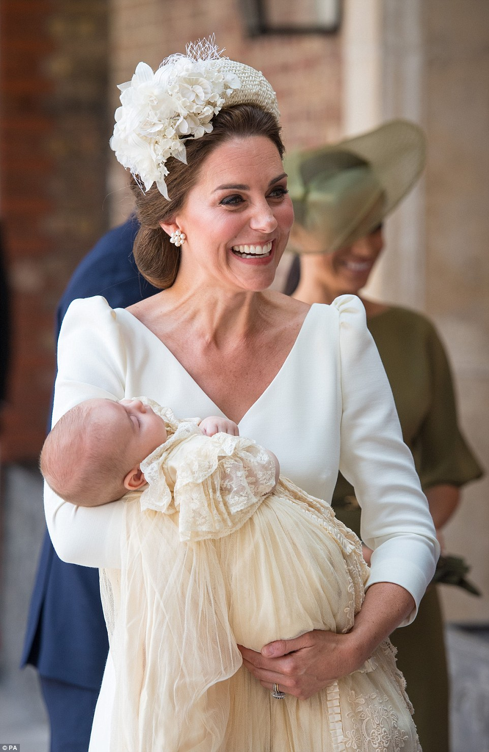 Kate Middleton wears Alexander McQueen for Prince Louis' Christening