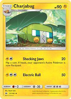 Charjabug Sun and Moon Pokemon Card