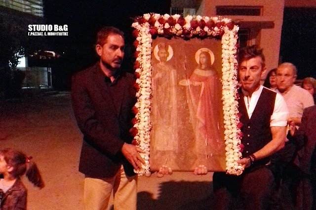 Γιόρτασαν τους Αγίους Κωνσταντίνο και Ελένη στο ανακαινισμένο κοιμητηριακό Ναό Ινάχου