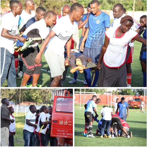 PICHA za Mchezaji wa Mbao FC Alivyo Fariki baada ya kugongana na mchezaji wa Mwadui FC