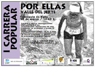 """I Carrera Popular """"Por ellas, Valle del Jerte"""" (19 de marzo)"""