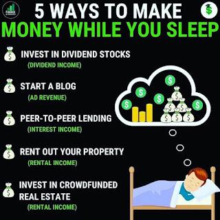 5 cách để kiếm tiền trong lúc ngủ
