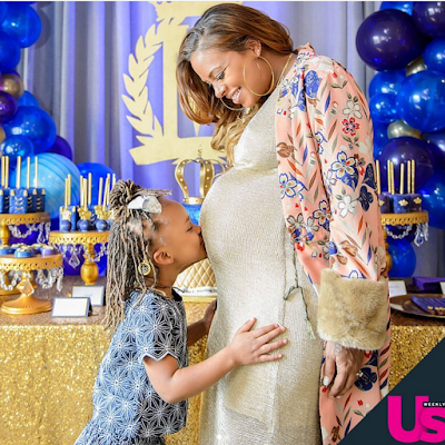 Eva Marcille shares pregnancy photoshoot with fiance, Michael Sterling + pics from her baby shower