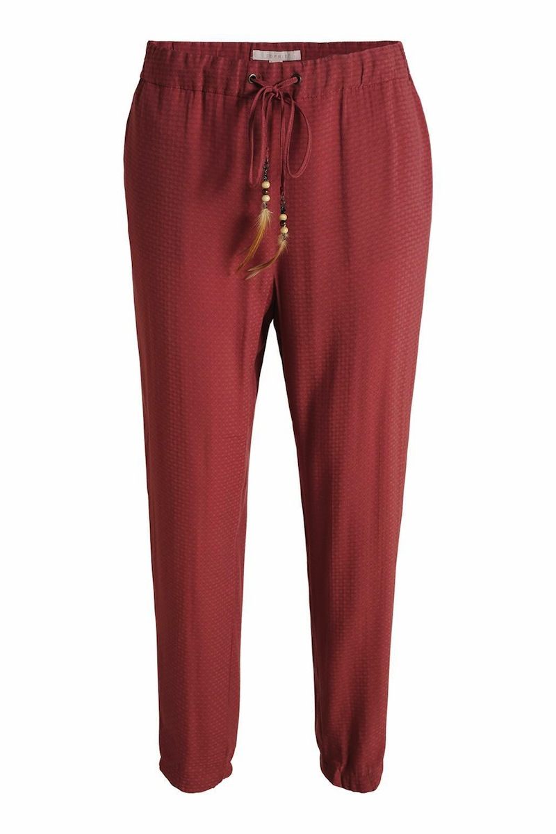 pantalon loose rouge ESPRIT