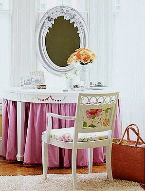 Decorating With Skirted Dressing Tables Decoration Wood