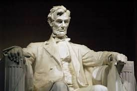 White Figure of Marble Abraham Lincoln.