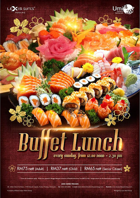 Japanese Buffet in Penang Lexis Suite Penang