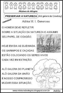 Paródia sobre meio ambiente