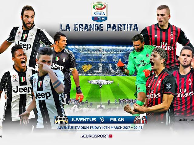 Juventus x Milan (10/03/2017) - Horário e TV