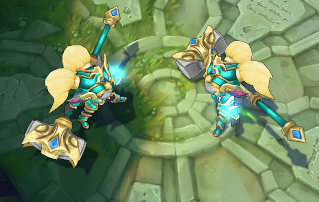Mod Skin Poppy Battle Regalia Golden Blue Sky