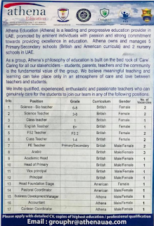 """وظائف مؤسسة """"اثينا"""" التعليمية لعدة تخصصات"""