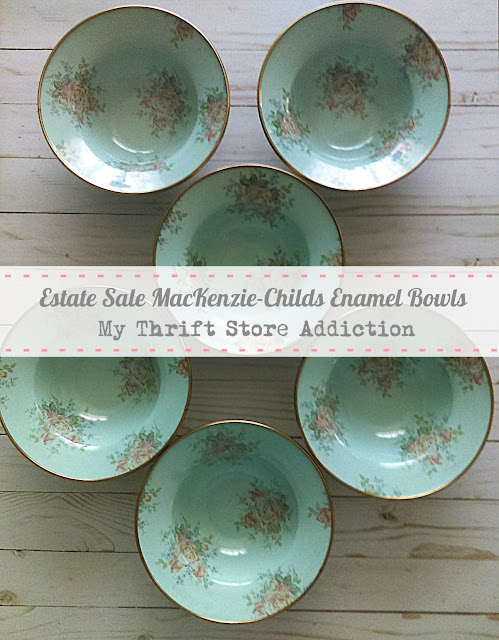 estate sale MacKenzie-Childs bowls