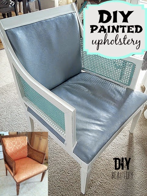 DIY Painted Upholstery Www.diybeautify.com