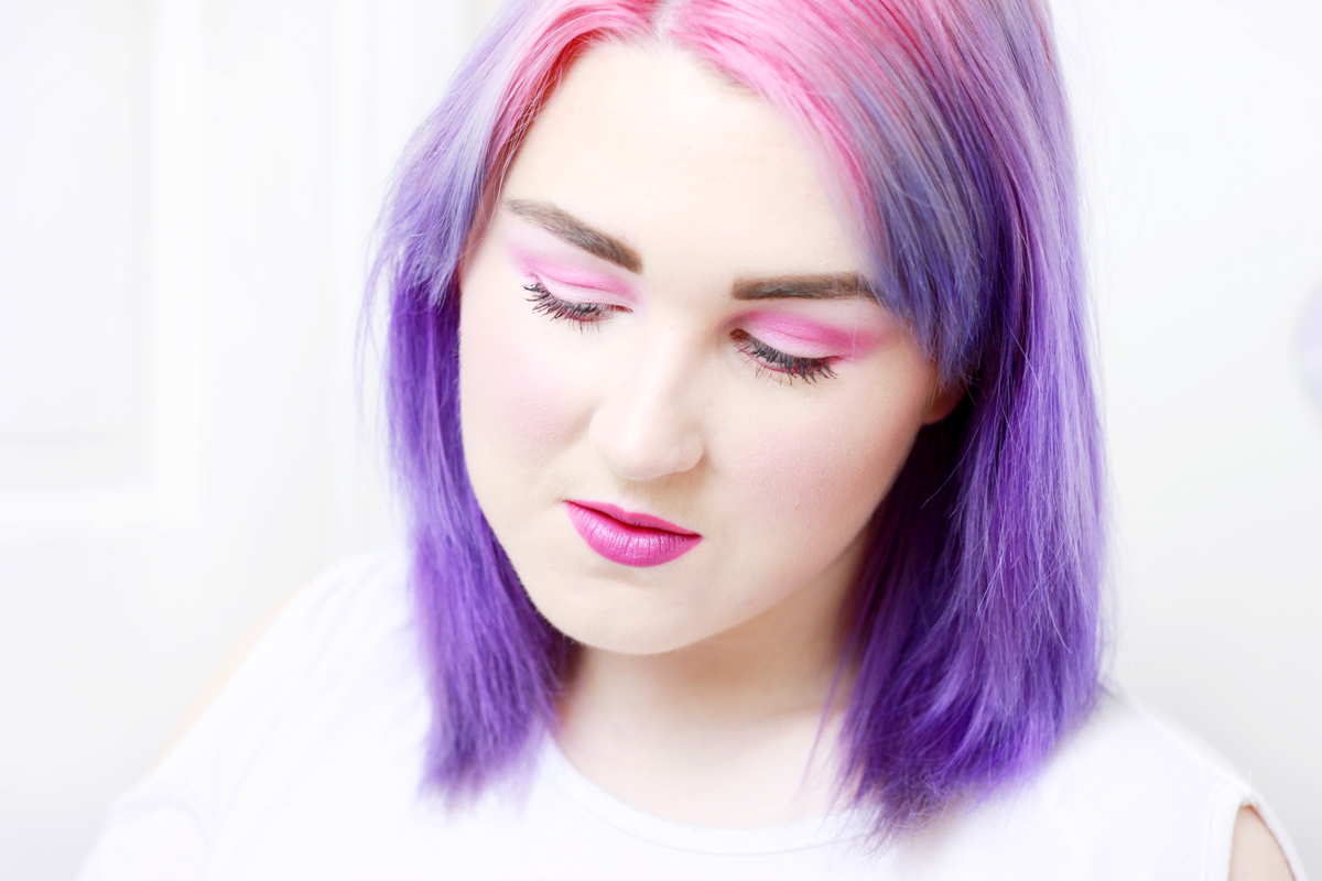 pink makeup look using Illamasqua Hypnotica