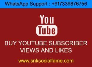 buy permanent youtube subscribers india