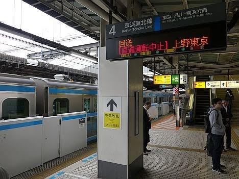 京浜東北線 各駅停車 上野行き E233系(南行)(2018年 品川駅工事に伴う運行)