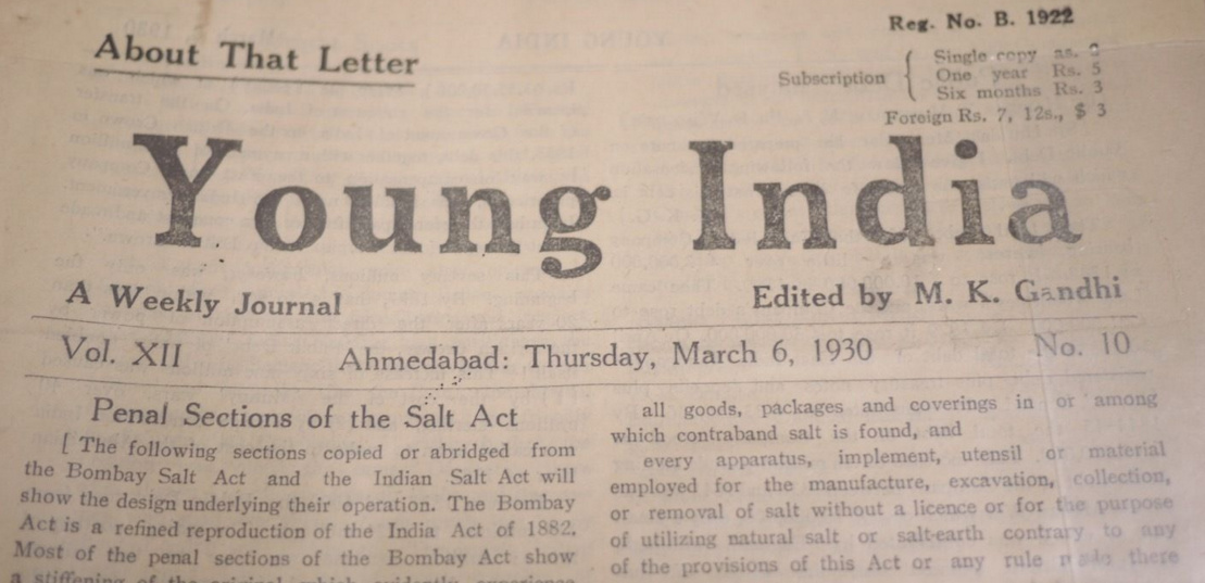 GANDHI STAMPS CLUB: Young India Newspaper edited by Gandhi