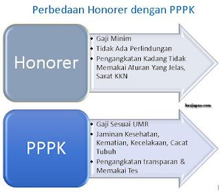 Perbedaan Honorer dengan PPPK