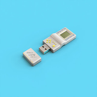 arte - projeto de pen drives com design retrô