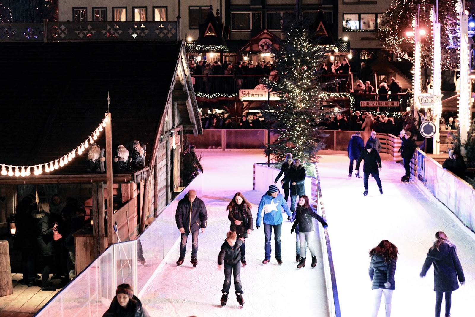 Christmas market ice rink at Cologne Market