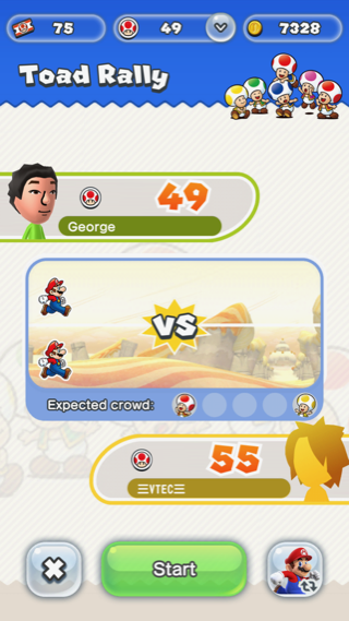 Süper Mario Run 1vs1 maç atma