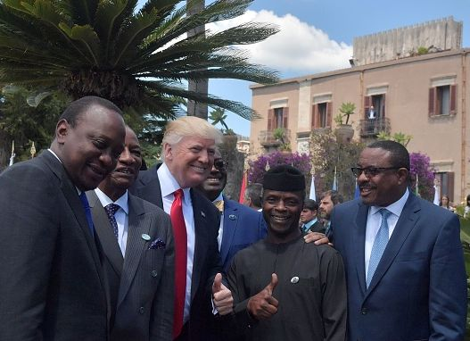 Osinbajo Strikes A Pose With Donald Trump At G7 Summit