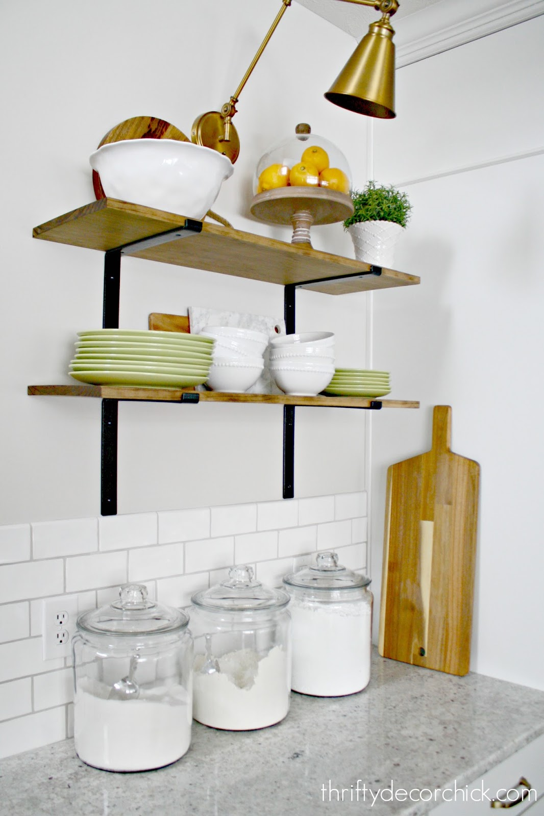 hanging kitchen shelves sideboard in the from thrifty decor chick
