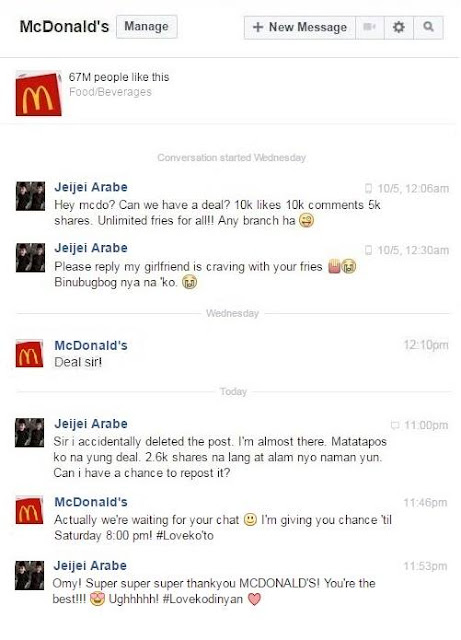 For The Love of Fries: Boy Asks McDo for Unli Fries If He Gets 10K Likes, Shares and Comments. Find Out What Happened To His Challenge!