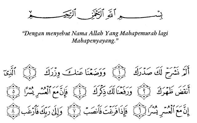 Kandungan Doa Dalam Surah Al Insyirah, yang Jauh Jadi Dekat, yang Sulit Jadi Mudah