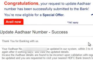 link aadhaar card number (uid) with hdfc bank accounts