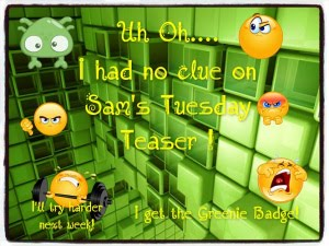 Play Tuesday Teaser at Sammy's Blog!