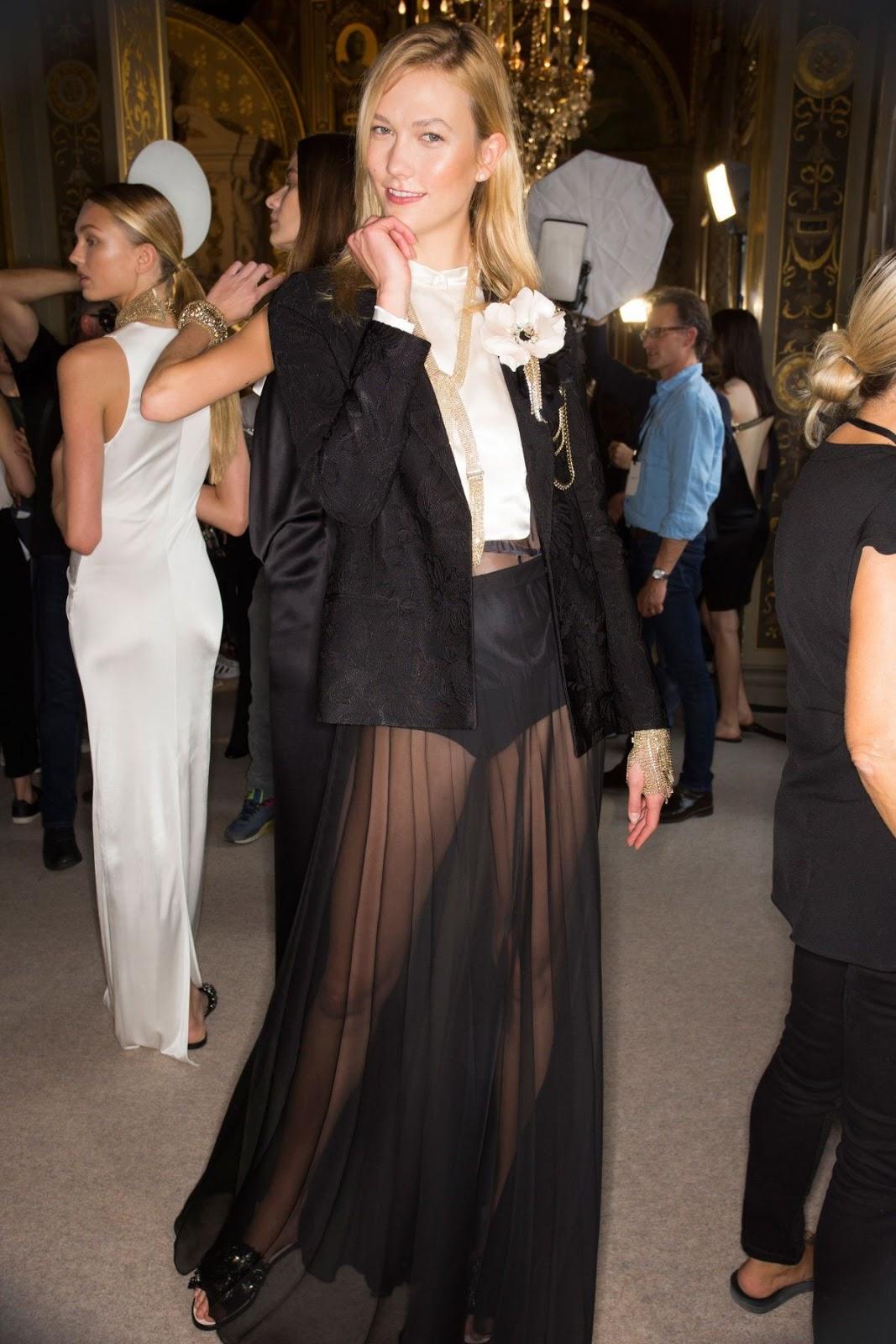 Karlie Kloss at Lanvin Spring/Summer 2017 Fashion Show