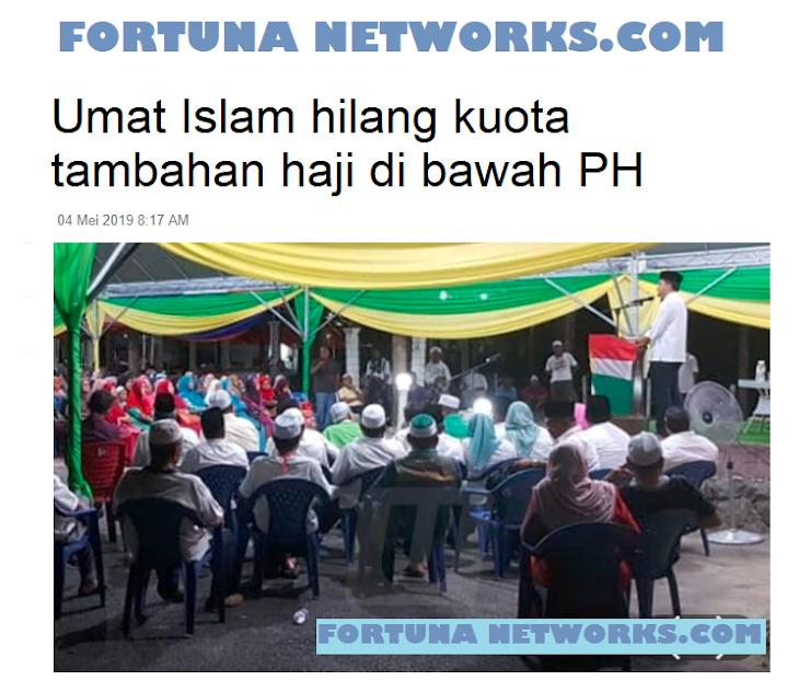 """UMAT ISLAM MALAYSIA, """"Hilang Kouta Tambahan Haji Dibawah Regim PH"""""""