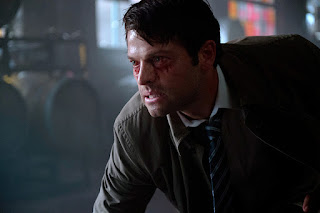 "Misha Collins as Castiel in Supernatural 11x01 ""Out of the Darkness, Into the Fire"""