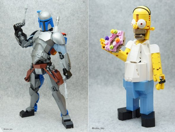nobu_tary flickr esculturas de lego comidas star wars simpsons