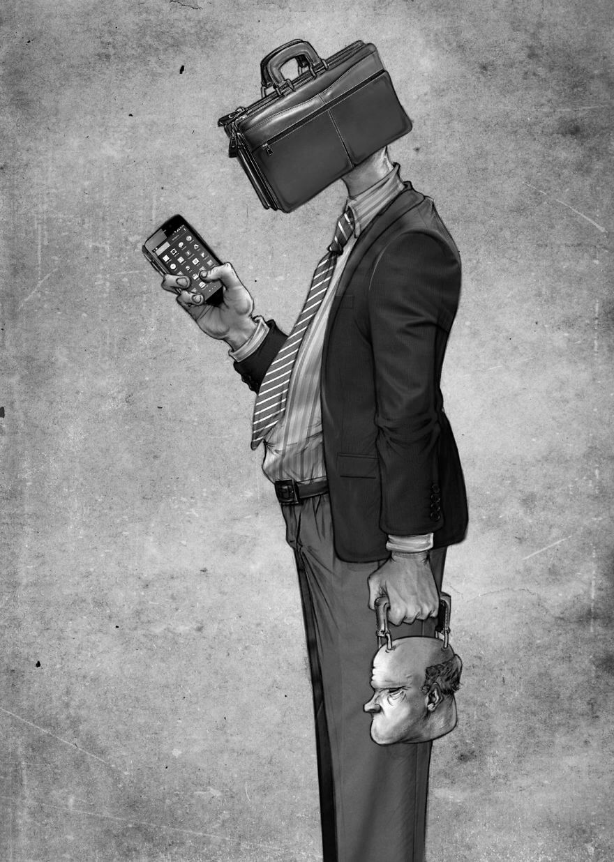 Modern Society Captured In 40 Powerful Illustrations