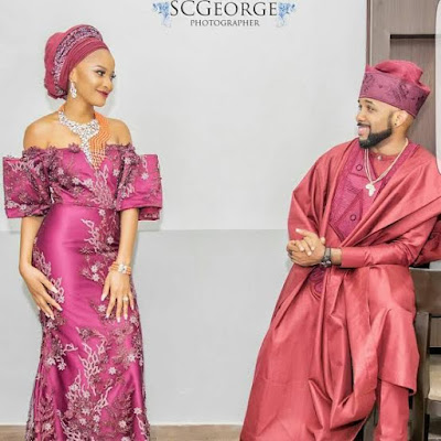 BankyW & Adesua Etomi are stunning in official photos from their wedding Introduction