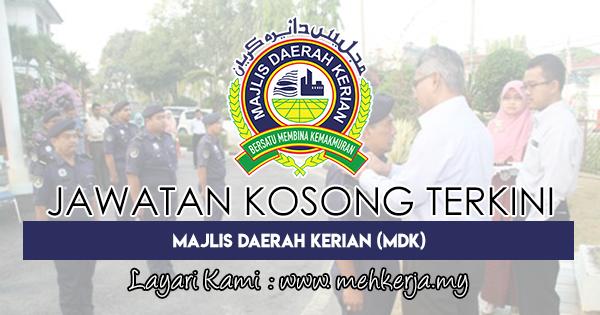 Jawatan Kosong Terkini 2018 di Majlis Daerah Kerian (MDK)