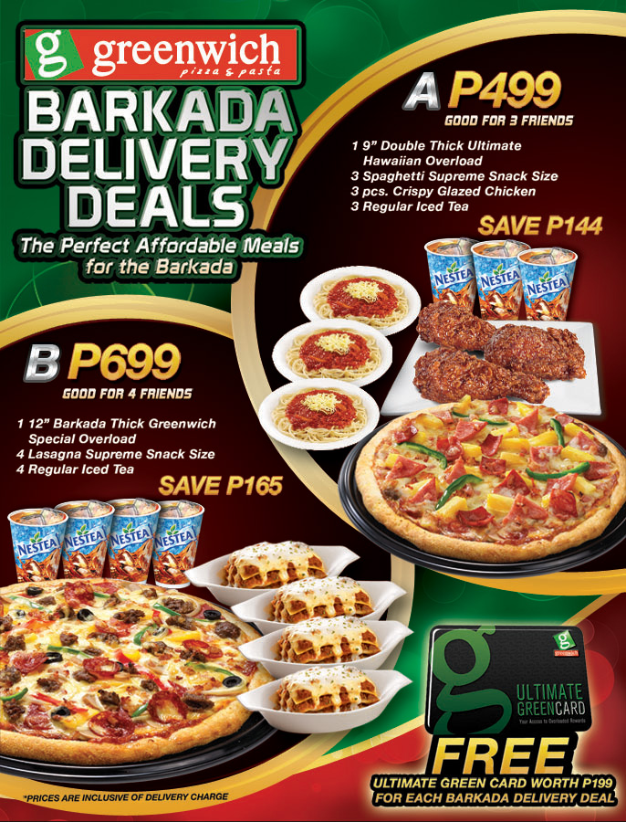 greenwich barkada delivery deals pamurahan your