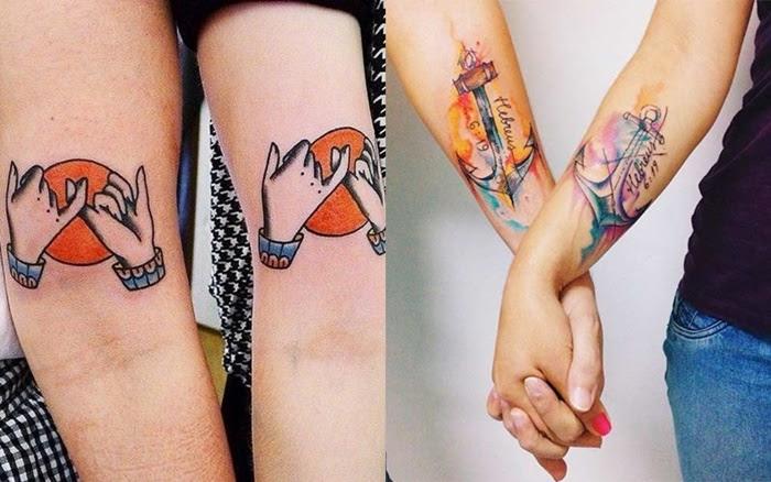 mo de 12 stilvolle arm tattoo designs f r paare. Black Bedroom Furniture Sets. Home Design Ideas