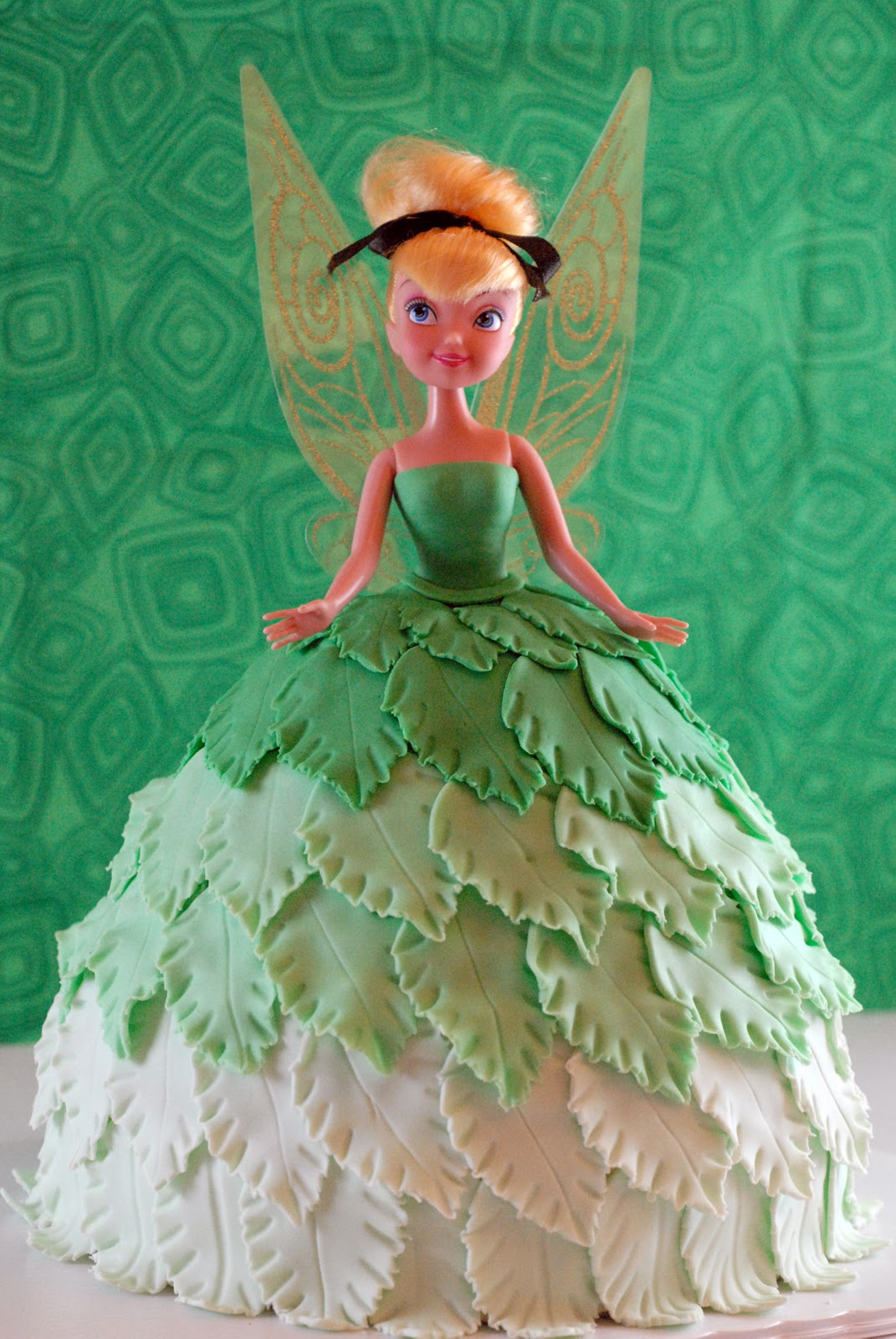 Night Baking Tinkerbell Doll Cake