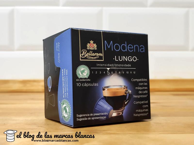 Cápsulas de café BELLAROM de Lidl compatibles con Nespresso - variedad Módena - El Blog de las Marcas Blancas