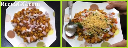 making Matar Chaat at Home (recipe pic)