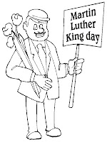 Martin Luther King Day Realistic Coloring Pages