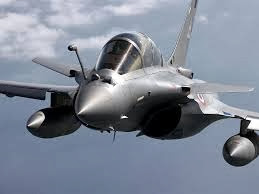 Vista Frontal del Dassault Rafale