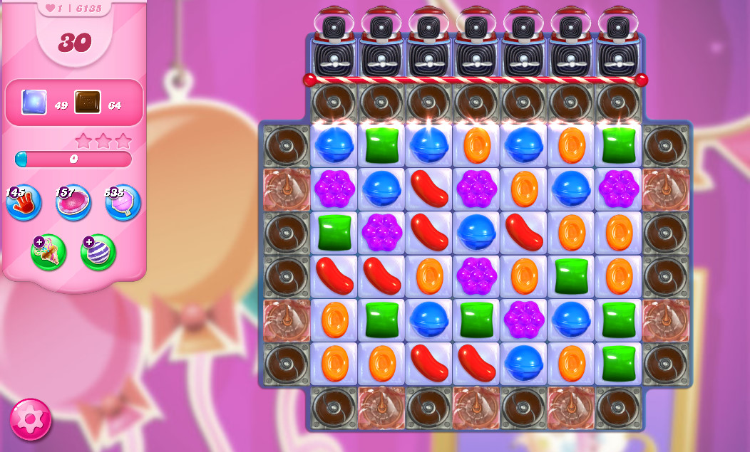 Candy Crush Saga level 6135