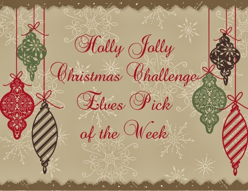"Holly Jolly christmas challange "" No patterned paper"""