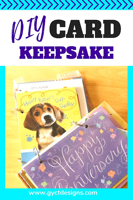 Make your own quick greeting card keepsake album with this super fast step by step tutorial.