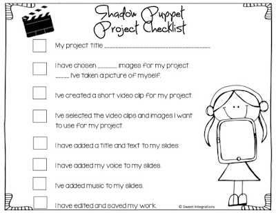 Shadow Puppet Project Checklist