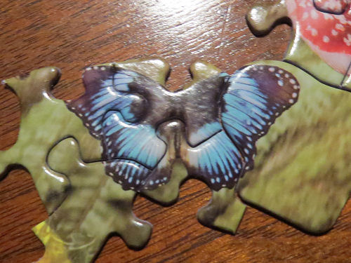 jigsaw puzzle blue butterfly